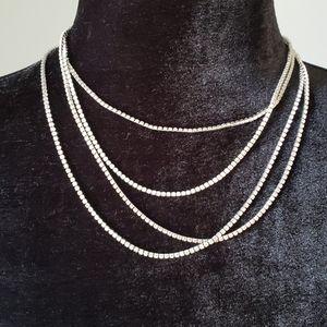 NWT Banana Republic Infinity Silver Necklace